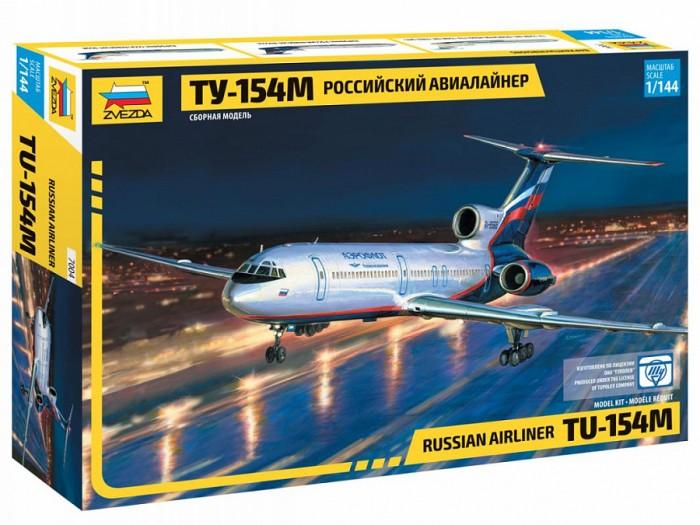 Конструктор Звезда Модель Пассажирский авиалайнер Ту-154Модель Пассажирский авиалайнер Ту-154Модель Пассажирский авиалайнер Ту-154  Ту-154 самый распространенный реактивный пассажирский самолет примерно до 2010 года. В 2013 году модель была снята с производства. Советские пилоты часто давали ему различные прозвища, в том числе и забавные: аврора, туполь, полтинник и даже большая тушка.  Внимание! Клей и краски в комплект не входят, приобретаются отдельно.   Особенности: Масштаб: 1:144 Количество деталей: 76 шт. Комплект: аксессуары, элементы для сборки, инструкция Длина готовой модели: 33 см<br>