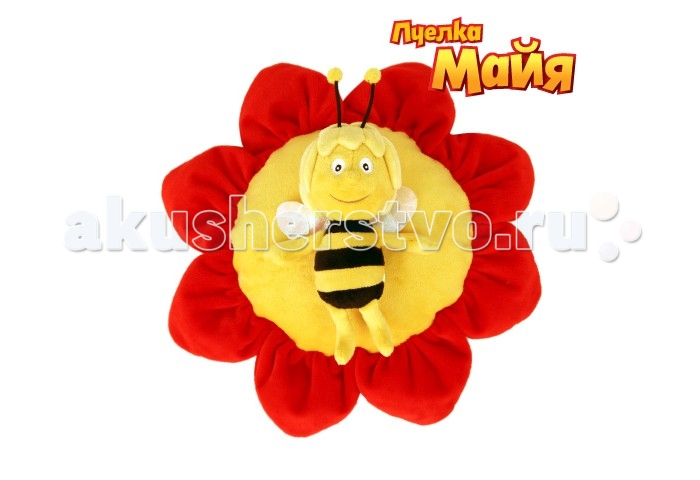 Пчелка Майя Подушка с Майей на липучке 36 см