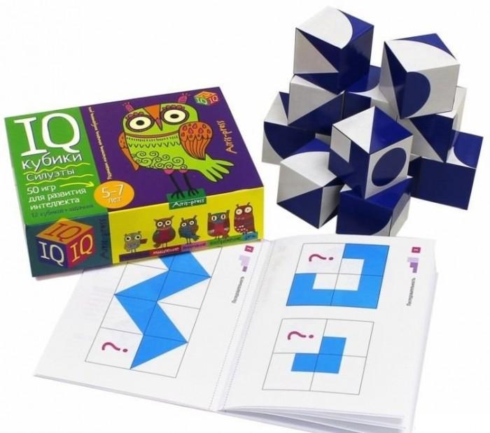 Айрис-пресс Умные кубики. Силуэты. 50 игр для развития интеллектаУмные кубики. Силуэты. 50 игр для развития интеллектаIQ-кубики Силуэты — это универсальный набор для развития дошкольника. В процессе игры он учится конструировать, систематизировать, соотносить фигуры по форме и размеру, повторяет геометрические фигуры, решает и составляет элементарные математические задачи, получает навык определения положения предмета в пространстве, тренирует память и внимание, развивает воображение и речь. Игровой комплект включает: 12 кубиков с цветным изображением животных и методическое пособие с подробным описанием 50 развивающих игр. Чтобы познакомить ребёнка с разными способами подачи информации, задания даются в виде модели, устной инструкции или схемы и постепенно усложняются. Простота и удобство комплекта позволяют использовать его в детском саду, дома и на отдыхе. Предназначен для детей старше 5-ти лет.<br>