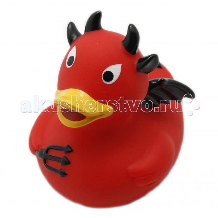FunnyDucks Игрушка для ванны Уточка дьяволИгрушка для ванны Уточка дьяволFunnyDucks Игрушка для ванны Уточка дьявол. Резиновая желтая уточка - всемирно известная классическая игрушка для ванной. В дополнении к стандартной игрушке предлагаем более 100 дизайнерских уток-персонажей.   Рекомендованы для детей от 3-х лет, изготовлены из безопасных, нетоксичных материалов и соответствуют сертификату ТР ТС.   Предназначены для игр в воде, на улице и дома, при нажатии издают негромкий пищащий звук. На воде держатся ровно, голова не перевешивает, на бок не заваливаются.   Размеры уток 8,5 см х 8,5 см<br>