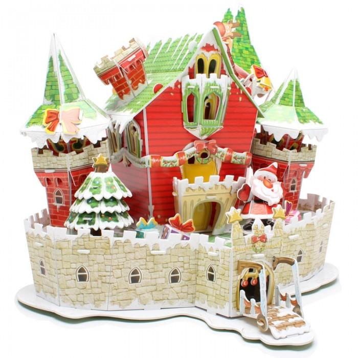 Конструктор CubicFun 3D пазл Сказочный рождественский замок с подсветкой3D пазл Сказочный рождественский замок с подсветкой3D пазл CubicFun Сказочный рождественский замок с подсветкой  Данная модель будет самым удивительным подарком на Рождество или Новый год для ребенка от 3 лет. Удивительный рождественский замок ребенок может смастерить самостоятельно без клея и ножниц. Детали легко и просто выдавливаются из картона и соединяются между собой с помощью специальных соединительных приспособлений. Этот рождественский замок украсит любую детскую комнату. С ним можно играть или просто поставить на полку и любоваться ярким и красивым сказочным замком.   Функции:   помогает в развитии логики и творческих способностей ребенка;  помогает в формировании мышления, речи, внимания, восприятия и воображения;  развивает моторику рук;  расширяет кругозор ребенка и стимулирует к познанию новой информации;    Практические характеристики:   обучающая, яркая и реалистичная модель;  идеально и легко собирается без инструментов;  увлекательный игровой процесс;  тематический ассортимент;  новый качественный материал (ламинированный пенокартон).<br>