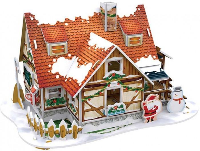 Конструктор CubicFun 3D пазл Рождественский домик 1 с подсветкой3D пазл Рождественский домик 1 с подсветкой3D пазл CubicFun Рождественский домик 1 с подсветкой станет прекрасным подарком, как ребенку, так и взрослому! Этот замечательный пазл можно собирать всей семьей, увлекая ребенка в удивительный мир сказки и Рождества. Домик собирается без использования клея и ножниц, делая этот конструктор уникальным. Детали легко выдавливаются из картона и соединяются между собой с помощью специальных соединительных приспособлений.  Благодаря светодиодной подсветке, которая придает домику праздничное настроение, он станет отличным украшением интерьера детской комнаты.  Функции: помогает в развитии логики и творческих способностей ребенка; помогает в формировании мышления, речи, внимания, восприятия и воображения; развивает моторику рук; расширяет кругозор ребенка и стимулирует к познанию новой информации;  Практические характеристики: обучающая, яркая и реалистичная модель; идеально и легко собирается без инструментов; увлекательный игровой процесс; тематический ассортимент; новый качественный материал (ламинированный пенокартон).<br>