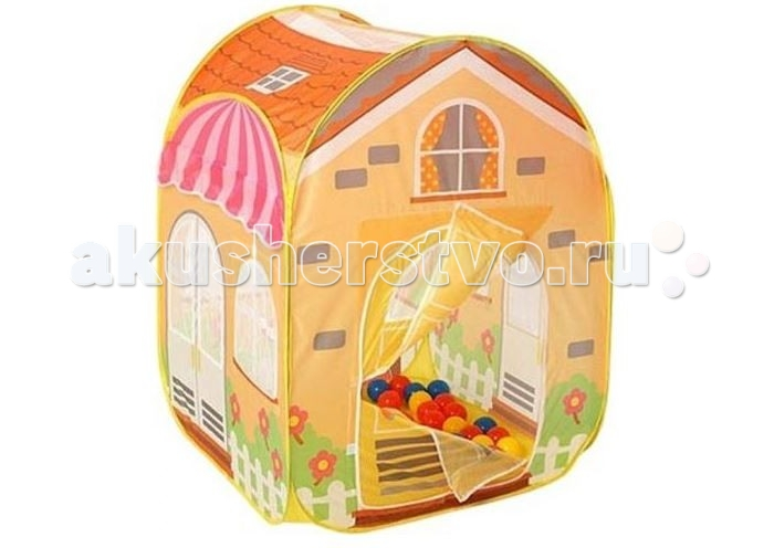 Calida Игровой домик ВиллаИгровой домик ВиллаCalida Игровой домик Вилла — палатка для весёлых активных игр на улице и дома. У домика есть дверца на липучках и большие окна с сеткой, для попадания света.  Дом-палатка легко устанавливается и собирается.   В комплект входит сто цветных шаров.  Размер 85х85х110 см<br>