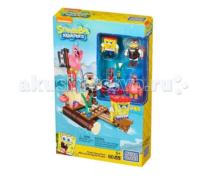 Конструктор Mega Bloks Губка Боб набор из 4 фигурок ПиратыГубка Боб набор из 4 фигурок ПиратыКонструктор Mega Bloks Губка Боб набор из 4 фигурок Пираты  Эй, на палубе! Самые известные герои Бикини Боттом отправились в открытое море с Набором фигурок пиратов серии SpongeBob SquarePants от Mega Bloks. В этот набор входят микрофигурки главных героев сериала — Губки Боба, Патрика, Сэнди, мистера Крабса и Планктона, одетые в полный пиратский костюм, включая повязки на глаза и банданы. Построй морской плот, а если Планктон будет плохо себя вести, отправь его прогуляться по настоящей пружинящей доске! Собери все наборы и построй свой мир Бикини Боттом!   Сборный морской плот с работающей пружинящей доской Микрофигурки Губки Боба, Патрика, мистера Крабса и Планктона в пиратских костюмах В наборе: веселые аксессуары, включая пиратскую саблю и карту сокровищ Совместим с другими игровыми наборами серии SpongeBob SquarePants от Mega Bloks,чтобы ты смог построить свой собственный безумный и веселый мир Бикини Боттом! 60 деталей<br>