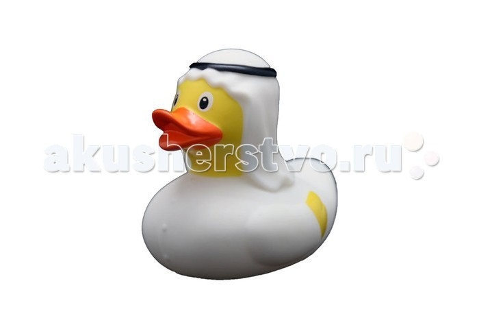 FunnyDucks Игрушка для ванны Уточка шейхИгрушка для ванны Уточка шейхFunnyDucks Игрушка для ванны Уточка шейх. Резиновая желтая уточка - всемирно известная классическая игрушка для ванной. В дополнении к стандартной игрушке предлагаем более 100 дизайнерских уток-персонажей.   Рекомендованы для детей от 3-х лет, изготовлены из безопасных, нетоксичных материалов и соответствуют сертификату ТР ТС.   Предназначены для игр в воде, на улице и дома, при нажатии издают негромкий пищащий звук. На воде держатся ровно, голова не перевешивает, на бок не заваливаются.   Размеры уток 8,5 см х 8,5 см<br>