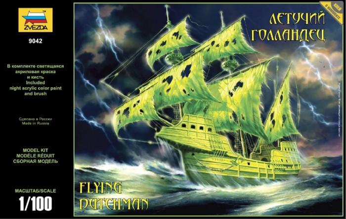 Конструктор Звезда Модель Корабль-призрак Летучий голландецМодель Корабль-призрак Летучий голландецМодель Летучий голландец  Согласно сказаниям, экипаж Голландца, бессмертный, неуязвимый, но неспособный сойти на берег, обречен бороздить волны Мирового океана до второго пришествия, наводя ужас на мореплавателей.   Модель комплектуется специальной краской, которая светится в темноте. Собранный и покрашенный корабль украсит полку или послужит отличным подарком.  Особенности: Масштаб: 1:100 Комплект: клей, светящаяся в темноте акриловая краска, элементы для сборки, инструкция Длина готовой модели: 37 см<br>