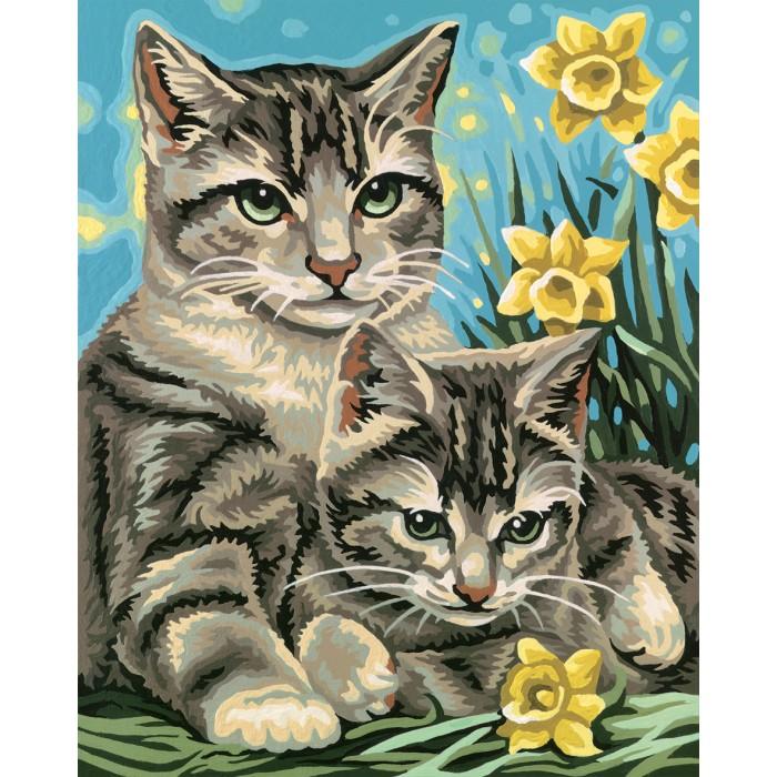 Schipper Кошка с котенком 24х30 см от Акушерство