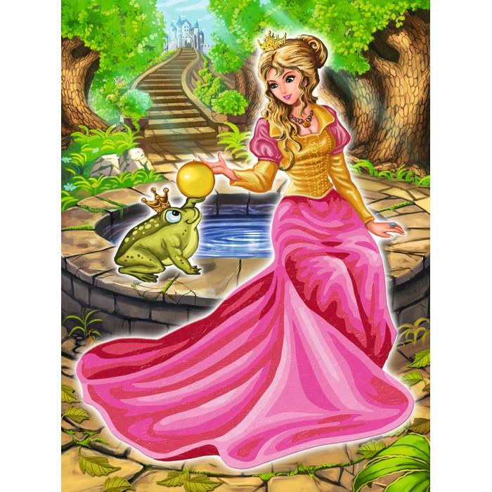 Schipper Царевна-лягушка 18х24 смЦаревна-лягушка 18х24 смРаскраска по номерам Schipper Царевна-лягушка 18х24 см  Очаровательную царевну превратила в лягушку злобная ведьма и только поцелуй принца сможет придать ей прежний облик. Удивительная детская раскраска от Schipper — это прекрасный выбор для любой маленькой принцессы.  Все необходимые краски входят в комплект с раскраской и сделаны они только из высококачественных нетоксичных материалов. Разукрашивая картинку, ваш малыш развивает воображение, творческие способности и логическое мышление.<br>