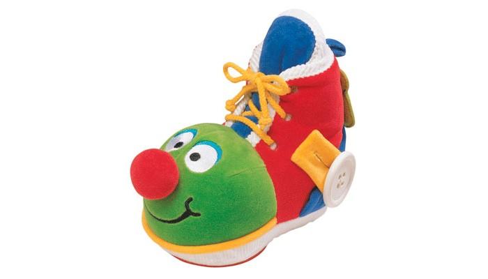 Развивающая игрушка KS Kids Ботинок с зеркаломБотинок с зеркаломРазвивающий Ботинок с зеркалом KS Kids с помощью этой замечательной игрушки Ваш малыш быстро научится шнуровать ботинки, расстегивать и застегивать пуговицы, пользоваться молниями. В башмачке есть небьющееся зеркальце, а материал игрушки - комбинированный: от очень мягкого до шероховатого, что так важно для тактильных ощущений малышей.  Размеры (дхгхш): 20 х 11 х 19 см  Упаковка: подарочная<br>