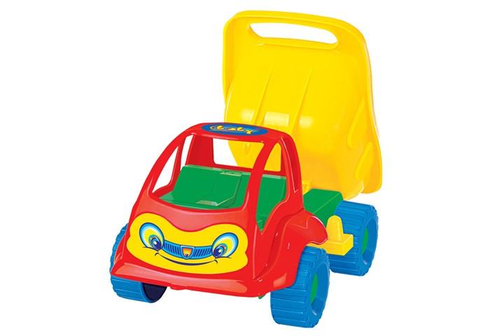 Полесье Самосвал Муравей 3102Самосвал Муравей 3102Самосвал Муравей 3102 это прочная и устойчивая машина изготовленная из экологичного пластика, абсолютно безопасного для детского здоровья.  Закругленные формы самосвала, лишенные острых углов, не позволят ребенку случайно травмироваться во время игры. Разноцветный самосвал с забавным личиком на капоте и откидывающимся кузовом обязательно на длительное время привлечет к себе внимание ребенка и увлечет его игрой.  Этим ярким и прочным самосвалом можно с одинаковым удовольствием играть как дома так и вместе с друзьями на улице, придумывая различные сюжеты и в процессе игры развивая моторику рук, глазомер, ловкость и фантазию.<br>