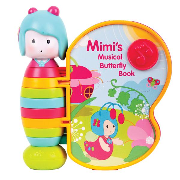 Музыкальные книжки Ouaps Книжка Бабочка Мими