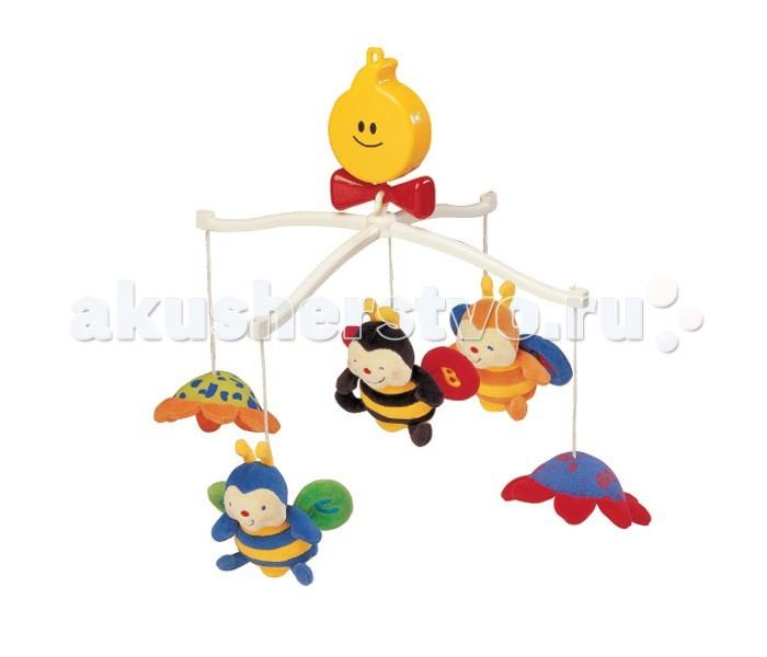 Мобиль K'S Kids Крутящиеся музыкальные Пчелки
