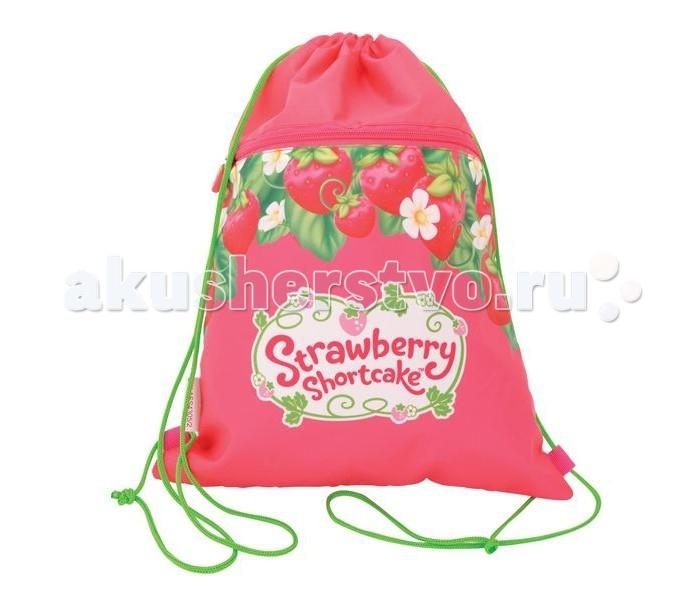 Action Мешок для обуви Strawberry Shortcake SW-ASS4305/4Мешок для обуви Strawberry Shortcake SW-ASS4305/4Action Мешок для обуви Strawberry Shortcake, размер 34 х 43 cм, с карманом на молнии, розовый с клубничками.  Мешок для обуви Strawberry Shortcake розовый Action! - удобный мешок с завязками-лямками и дополнительным карманом на молнии. Декор - печатный рисунок Размер - 34 х 43 см.<br>