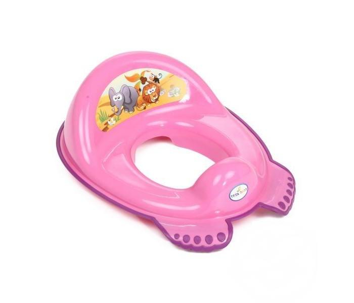 Tega Baby Накладка на унитаз Сафари антискользящаяНакладка на унитаз Сафари антискользящаяУдобное сиденье для унитаза в ярких тонах с ярким изображением приучит Вашего малыша к взрослому туалету.  Подходит ко всем стандартным туалетам. Насадка безопасна для детей - она не имеет острых углов и швов. Сиденье крепится к унитазу надежно, оно устойчивое, о безопасности крохи можно не беспокоиться.   Эргономичный дизайн, удобная спинка и анатомическая форма сиденья создают идеальные условия для комфорта ребенка.  Внимание! Расцветки в ассортименте!<br>