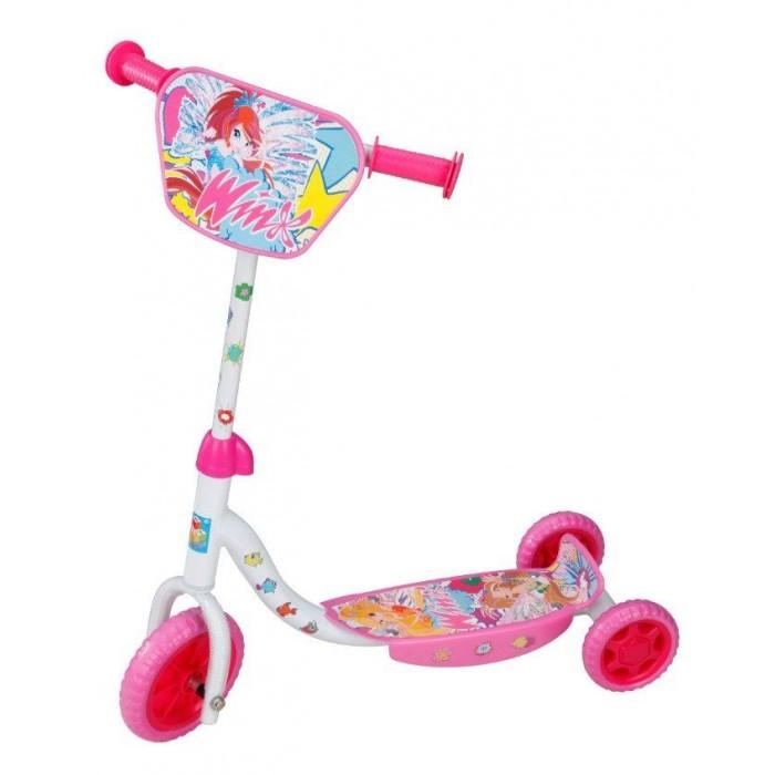 Самокат 1 Toy Winx T56810Winx T56810Самокат 1 Toy Winx трехколесный, созданный специально для начинающих. Ручки самоката покрыта мягким прорезиненным материалом, поэтому ребенок не натрет мозоли на ладошках.   Катание на самокате - одно из любимых занятий детей. Оно приобретает большую популярность, поскольку не требует специальных навыков. Любой ребенок будет счастлив такой покупке! Пусть ваш ребенок почувствует радость и свободу!   Особенности: Стальной руль Рама сталь, нескользящее покрытие EVA колеса - переднее 150 мм, задние 100 мм  Бесшумное движение без тряски  Ножной тормоз  Декоративная панель Максимальная нагрузка: 35 кг   Размеры: 60х68х11 см Вес 2.7 кг<br>