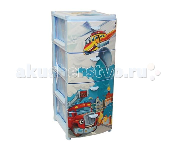 Idea (М-Пластика) Комод Спасатели 4-х секционный