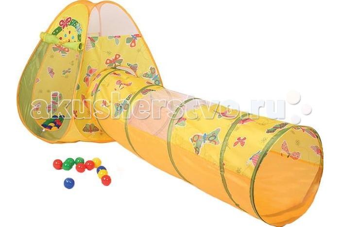 Bony Игровой домик с тоннелем Бабочки + 100 шариков