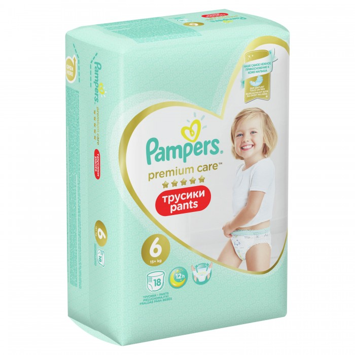 Pampers Трусики Premium Care Pants р.6 (16+ кг) 19 шт.