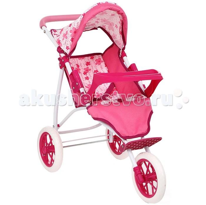 Коляска для куклы Игруша 65883T65883TИгрушечная коляска выполнена в стиле настоящей.  Теперь любимая куколка сможет ездить на прогулки в стильной и красочной коляске со своей хозяйкой!  Коляска прекрасно подходит для игр как на улице, так и дома.  Трехколесная коляска для кукол.  Коляска имеет подножку и трехточечное крепление для кукол. Защитный бампер  Материалы: металл, ткань  Высота ручки от пола 55 см. Вес: 1.6 кг.<br>