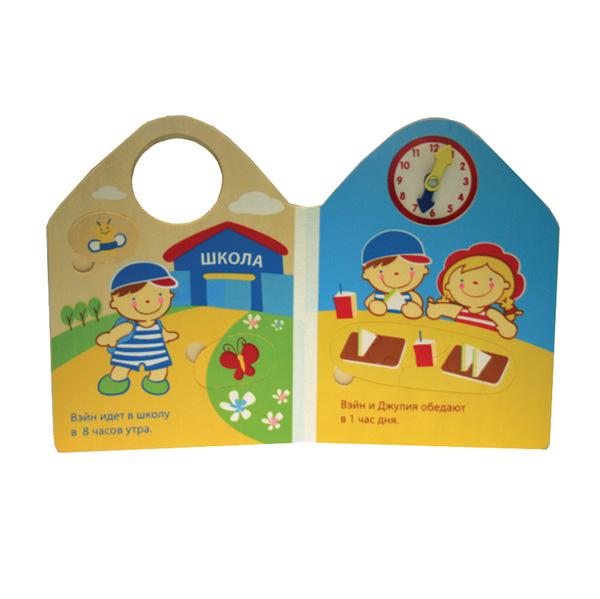 Книжки-игрушки K'S Kids Книга из дерева Который час?