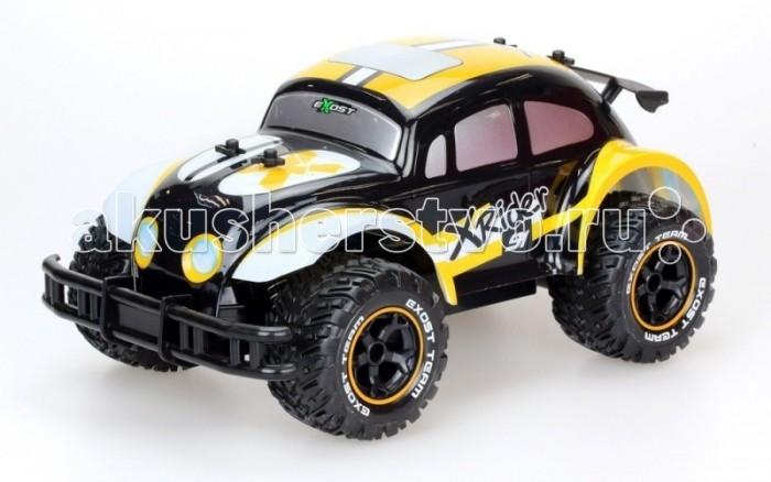 Silverlit Машина Икс Райдер на радиоуправлении 1:12Машина Икс Райдер на радиоуправлении 1:12Silverlit Машина Икс Райдер на радиоуправлении 1:12 способна развить скорость до 8 км/ч.   Особенности: Дизайном кузова игрушка напоминает автомобиль Volkswagen Жук, что понравится поклонникам данной торговой марки.  Рельефные колеса обеспечат прочное сцепление с любой поверхностью, что позволит ребенку совершать маневренные повороты и резкое торможение во время воображаемых гонок. Дальность действия: 30 м. Тип батареек для игрушки: 6 х AA / LR6 1.5V (пальчиковые) Тип батареек для пульта: 1 х 9V типа Крона.<br>