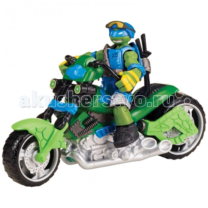 Turtles Игровой набор Мотоцикл-квадрокоптер с фигуркой Лео