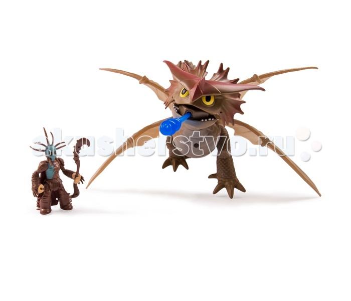 Dragons Большой дракон и всадникБольшой дракон и всадникНабор Dragons Большой дракон и всадник - потрясающий красочный игровой набор, созданный по сюжету популярного мультипликационного фильма «Как приручить дракона».   Набор включает большую фигурку дракона с открывающейся пастью и подвижными крыльями, а также маленькую фигурку всадника.  Дизайн фигурок полностью повторяет внешний вид любимых персонажей мультфильма.   Собери всю коллекцию героев и придумывай собственные приключения отважных викингов и их великолепных питомцев!<br>