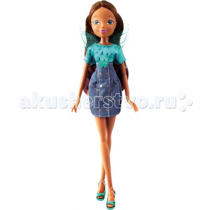 Winx Club Кукла Деним Лейла 27 смКукла Деним Лейла 27 смWinx Club Кукла Деним Лейла идеальные игрушки для детей от 3 лет.  Особенности: Куколка-модница Винкс может снимать свои крылышки, а также феечка сможет носить разные наряды, так как ее одежда снимается.  Куклу можно расчесывать, а ручки - двигать, ведь если рядом проходят подружки-модницы, им обязательно нужно приветственно помахать рукой.  Элегантные джинсовые сарафаны, неподражаемые босоножки и шелковые блузы героинь мультипликационного сериала Winx Club удивят маленькую принцессу.  Куклы выполнены в точности повторяя внешность персонажей, поэтому любительницам этого мультика будет приятно получить такой подарок.  Высота куклы: 27 см<br>