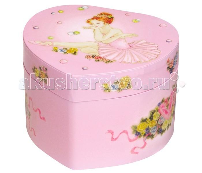 Trousselier Музыкальная шкатулка в форме сердца Ballerina In Pink Tutu