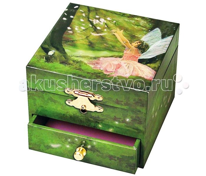 Trousselier Музыкальная шкатулка-куб Fairy in the ForestМузыкальная шкатулка-куб Fairy in the ForestКрасивая музыкальная шкатулка-куб Fairy in the Forest с одним отделением для хранения мелочей, выдвижным ящичком и крутящейся под музыку фигуркой Феи.  Выполненная из дерева, имеет небольшое зеркальце внутри.   Малыш будет в восторге! Не забываемый подарок на день рождения!   Музыкальный механизм заводится с помощью маленького ключика. (THE SLEEPING BEAUTY (OPUS 66) - TCHAIKOVSKY)  Размер: 11 х 9 х 11 см  Поставляется в подарочной коробке Trousselier.   Французский бренд Trousselier вот уже более 40 лет создает уникальные коллекции детских игрушек, товаров для дома и интерьера. Вся продукция изготовлена из натуральных материалов с соблюдением высоких европейских стандартов качества.<br>