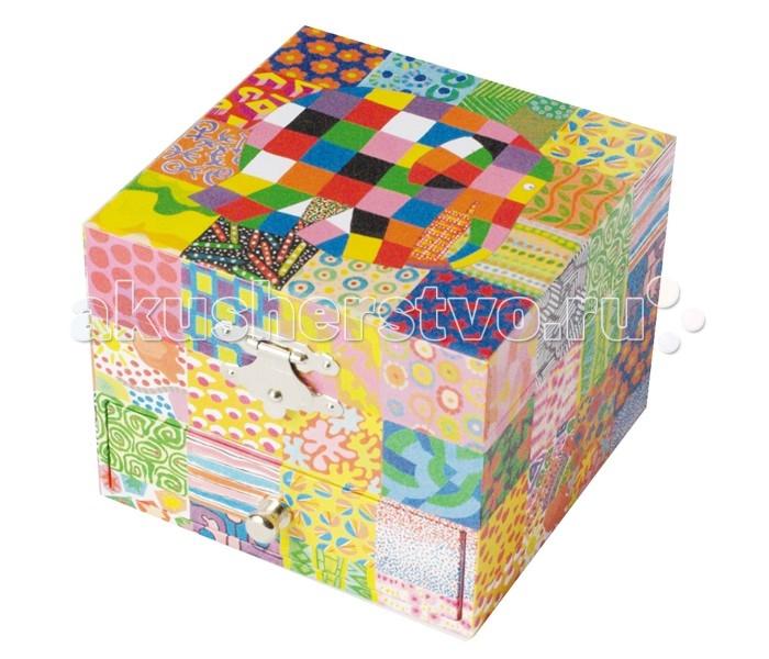 Trousselier Музыкальная шкатулка-куб Elmer Classic