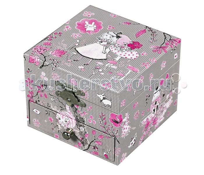 Trousselier Музыкальная шкатулка-куб AliceМузыкальная шкатулка-куб AliceКрасивая музыкальная шкатулка-куб Alice с одним отделением для хранения мелочей, выдвижным ящичком и крутящейся под музыку фигуркой балерины.  Выполненная из дерева, имеет небольшое зеркальце внутри.   Малыш будет в восторге! Не забываемый подарок на день рождения!   Музыкальный механизм заводится с помощью маленького ключика. (MOON RIVER)  Размер: 11 х 9 х 11 см  Поставляется в подарочной коробке Trousselier.   Французский бренд Trousselier вот уже более 40 лет создает уникальные коллекции детских игрушек, товаров для дома и интерьера. Вся продукция изготовлена из натуральных материалов с соблюдением высоких европейских стандартов качества.<br>