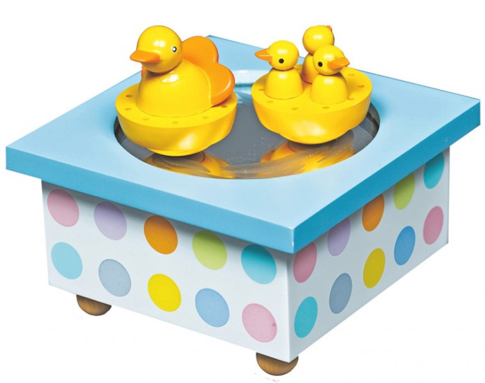 Trousselier Музыкальная шкатулка Wooden Box Duck