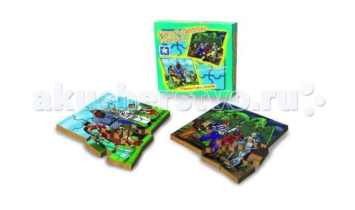 Деревянная игрушка Новое поколение Пазлы Сказочные герои