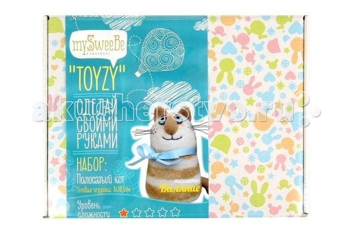 ToyzyKit Валяние из шерсти Полосатый котВаляние из шерсти Полосатый котЗамечательный набор для рукоделия Валяние из шерсти станет отличным подарком для любого творческого ребенка.   С помощью детальной инструкции, схемы и материалов ребенок сможет создать своими руками потрясающую поделку. Готовая работа может стать достойным подарком или сувениром для друзей и близких.   Все материалы для изготовления игрушки являются 100% натуральными и качественными.  Состав набора: детальная инструкция схема необходимые материалы (шерсть, пластика для глазок) инструменты для рукоделия  Валяние из шерсти - увлечение, ставшее популярным благодаря появлению наборов для рукоделия с необходимыми инструментами и материалами. В наборах используется специальный материал латвийский кардочес. Данный материал очень пластичен, идеален для первых шагов в освоении техники сухого валяния иглой, имеет широкую цветовую гамму, поверхность готовой игрушки получается однородной.<br>