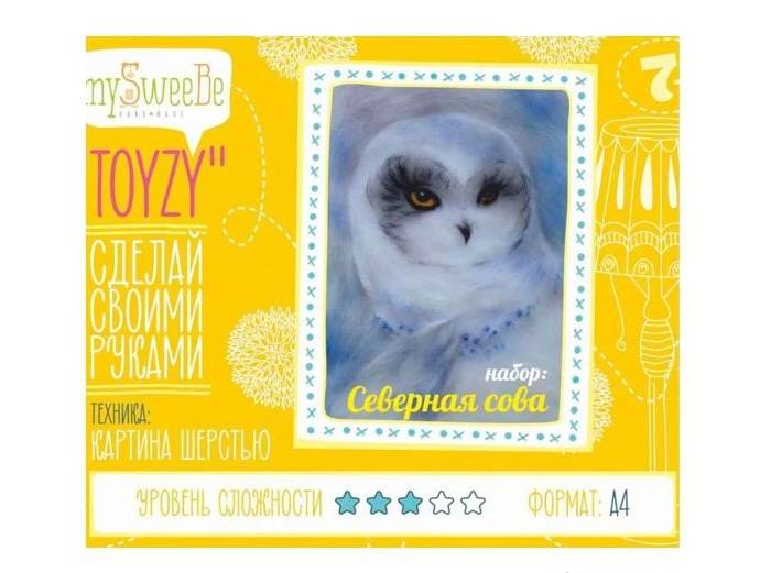 ToyzyKit Картина шерстью Северная сова