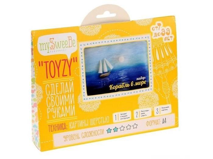ToyzyKit Картина шерстью Корабль в мореКартина шерстью Корабль в мореЗамечательный набор для рукоделия Картина шерстью станет отличным подарком для любого творческого ребенка.   С помощью детальной инструкции, схемы и материалов ребенок сможет создать своими руками потрясающую поделку. Готовая работа может стать достойным подарком или сувениром для друзей и близких.   Все материалы для изготовления игрушки являются 100% натуральными и качественными.  Состав набора: детальная инструкция порядок работы шерсть пинцет подложка (А4) дополнительные элементы  Технику создания картины шерстью иногда называют шерстяной акварелью, поскольку для ее создания используются сваленная разноцветная шерсть, а получившийся результат имеет определенное сходство с картиной, нарисованной акварелью. В то же время картина шерстью имеет существенное преимущество: ошибки при работе легко исправить, для этого достаточно удалить неудачный слой и положить его вновь. В случае с акварелью исправить художественные неточности будет гораздо сложнее.  Создание картины шерстью - это творческий процесс, который разгружает нервную систему, развивает воображение, творческий потенциал.<br>