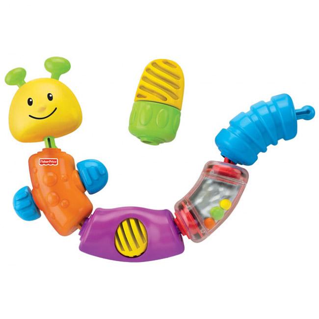 Развивающие игрушки Fisher Price Гусеница-конструктор