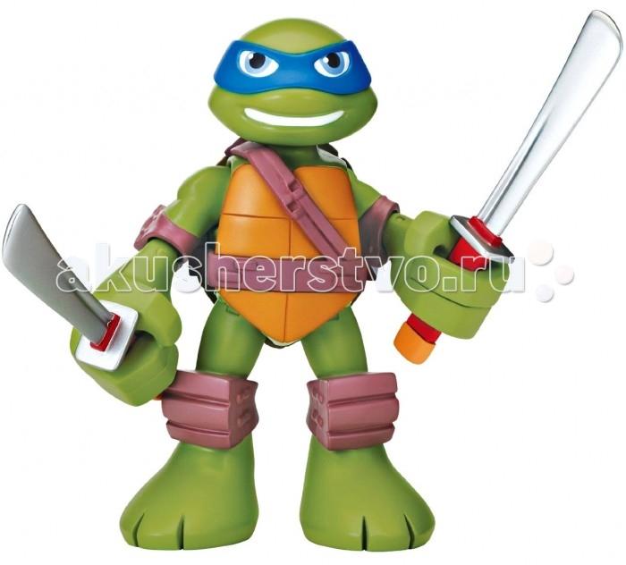 Turtles Говорящая фигурка Черепашки-ниндзя Леонардо Half Shell Hero 15 смГоворящая фигурка Черепашки-ниндзя Леонардо Half Shell Hero 15 смTurtles Говорящая фигурка Черепашки-ниндзя Леонардо Half Shell Hero 15 см - это отличный выбор настоящему поклоннику этого исторического мультфильма, который послужит отличным атрибутом для ролевых игр Вашего ребенка!  Особенности: Для активации звуковых эффектов необходимо потянуть за руку или ногу. Игрушка направлена на развитие мелкой моторики пальчиков.<br>