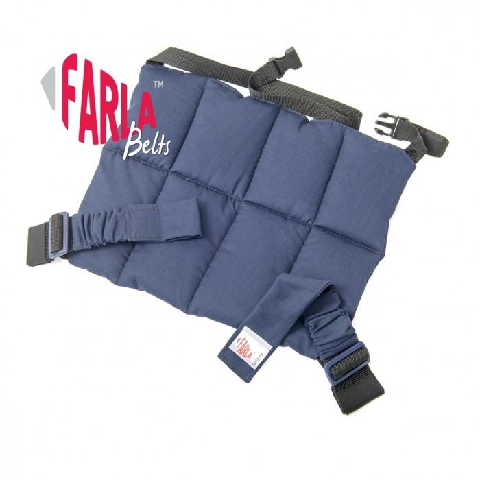 Farla Адаптер для ремня безопасности BeltsАдаптер для ремня безопасности BeltsПри дорожной аварии взрослый человек развивает усилие в 3000 кг при столкновении с жестким препятствием на скорости 50 км/ч. Стандартный автомобильный ремень безопасности, как правило, обхватывает живот беременной женщины таким образом, что плод в случае аварии может подвергнуться чрезвычайно сильному давлению.  Адаптер ремня безопасности для беременных Farla Belts предназначен для женщин с самого начала и до окончания беременности. Опускает поясную лямку ремня безопасности в область таза, не давая ей подняться на живот и в отличие от некоторых аналогов, его можно использовать даже если вы одеты в юбку. Защищает плод при ударе в случае аварии, снижая вероятность выкидыша на 50%.  С использованием адаптера для ремня безопасности, беременная женщина чувствует себя в автомобиле гораздо комфортнее. Ей не приходится одергивать и оттягивать ремень руками на протяжении всей поездки.  Материал: Хлопок, синтетические стропы.  Цвет основы в ассортименте.<br>