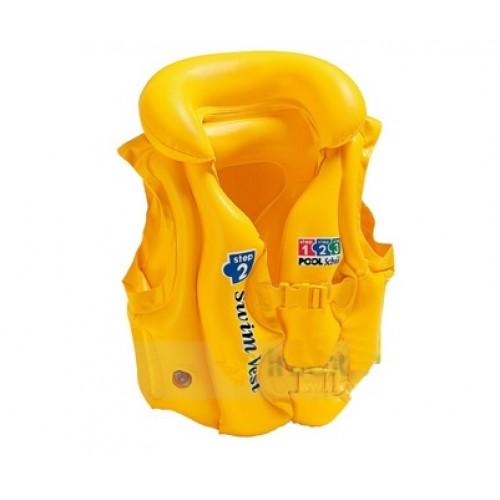 Круги и нарукавники для плавания Intex Жилет Люкс желтый 58660EU