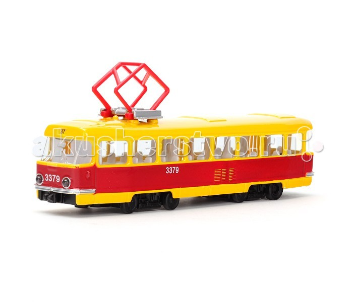 Технопарк Трамвай X600-H36002-RТрамвай X600-H36002-RТехнопарк Трамвай пластиковый 30 см, со светом и звуком, открыввющиеся двери.  Игрушка представляет собой модель российского трамвая. Высочайшего качества игрушка, с продуманностью деталей, открыванием дверей придаёт трамваю максимально реалистичности, и обязательно придётся по душе будущему маленькому владельцу. Большим преимуществом транспортного средства является наличие звуковых и световых эффектов.  Ваш ребенок будет часами играть с этой машинкой, придумывая различные истории.<br>
