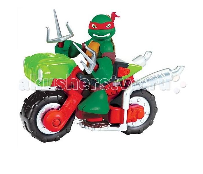 Turtles Фигурка Черепашки-ниндзя Раф с мотоциклом Half Shell Hero