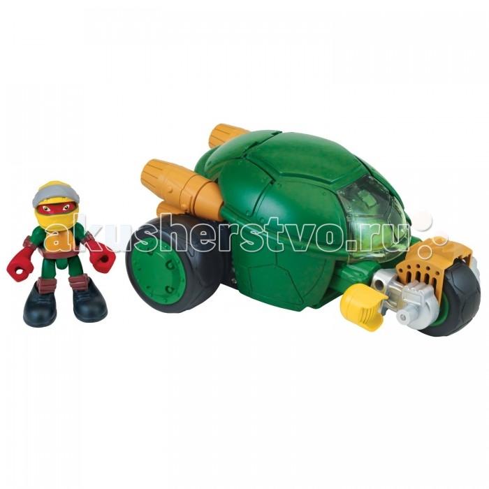 Turtles Фигурка Черепашки-ниндзя Раф с мотоциклом-стелс Half Shell Her