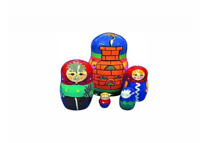Деревянная игрушка RNToys Матрешка Сказка Гуси-Лебеди 5 в 1Матрешка Сказка Гуси-Лебеди 5 в 1Матрешка Репка - исконно русская игрушка, появившаяся на свет еще в XIX веке.   Если изначально матрешку создавали в виде круглолицой девушки в расписном сарафане, то впоследствии их стали украшать сюжетами из русских сказок и былин.  С помощью матрешки ребенок знакомится с основополагающими понятиями: большой- маленький, высокий - низкий, тоньше - толще. Игра с матрешкой развивает связную речь, фантазию, знакомит с навыками счета, сюжетной игры.<br>