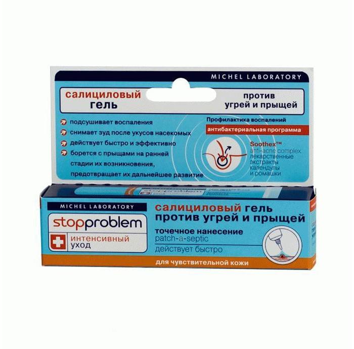 Stopproblem Гель салициловый против угрей и прыщей для жирной кожи 15 мл
