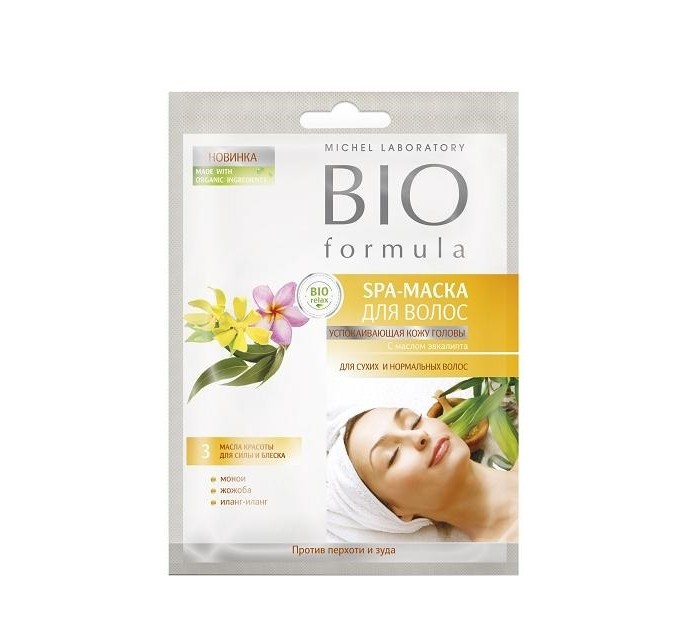 Био Формула Спa-маска успокаивающая кожу головы для волос bio formula 20 мл