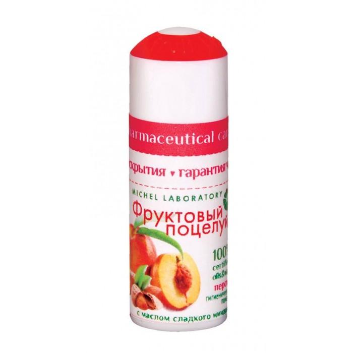 Фруктовый поцелуй Помада гигиеническая Персик 3.5 гПомада гигиеническая Персик 3.5 гФруктовый Поцелуй Помада гигиеническая Персик 3.5 г, способствует восстановлению эластичности кожи губ, защищает от вредного воздействия солнечных лучей.  Содержит активный комплекс «Multi-fruits» из экстрактов натуральных фруктов интенсивно увлажняет кожу губ, придает ощущение мягкости и комфорта!<br>