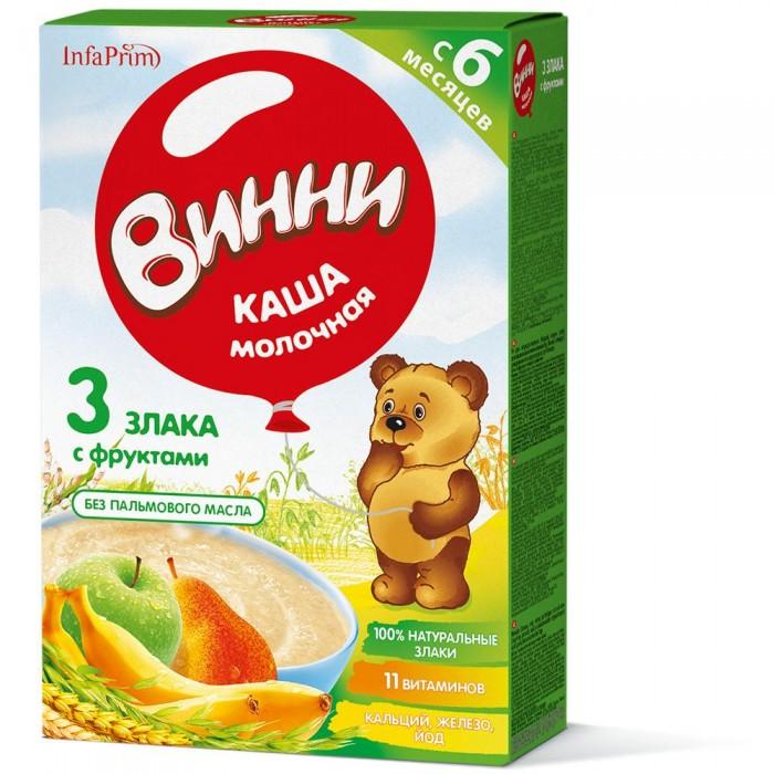 Винни Каша молочная 3 злака с фруктами с 6 мес. 200 г