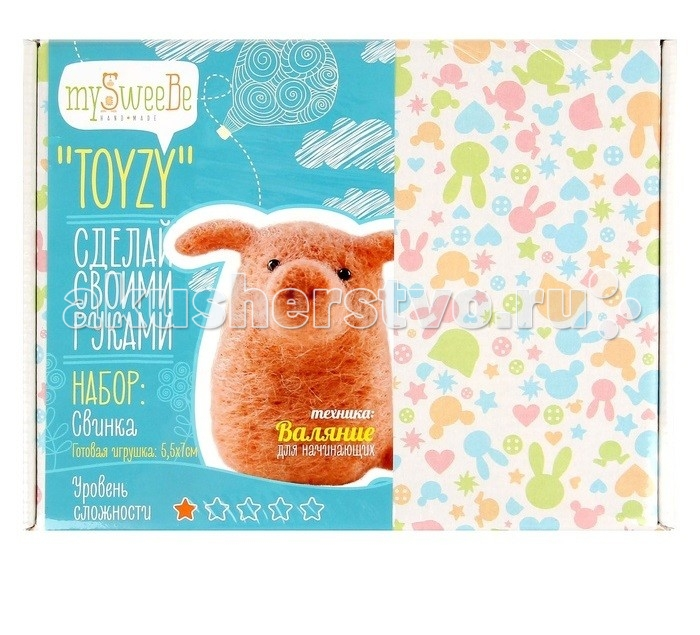 ToyzyKit Валяние из шерсти СвинкаВаляние из шерсти СвинкаToyzyKit Валяние из шерсти Свинка  Замечательный набор для рукоделия Валяние из шерсти станет отличным подарком для любого творческого ребенка.   С помощью детальной инструкции, схемы и материалов ребенок сможет создать своими руками потрясающую поделку. Готовая работа может стать достойным подарком или сувениром для друзей и близких.   Все материалы для изготовления игрушки являются 100% натуральными и качественными.  Состав набора: детальная инструкция схема необходимые материалы (шерсть, пластика для глазок) инструменты для рукоделия.  Валяние из шерсти - увлечение, ставшее популярным благодаря появлению наборов для рукоделия с необходимыми инструментами и материалами. В наборах используется специальный материал латвийский кардочес. Данный материал очень пластичен, идеален для первых шагов в освоении техники сухого валяния иглой, имеет широкую цветовую гамму, поверхность готовой игрушки получается однородной.<br>